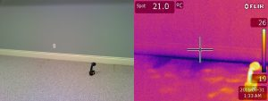 leak detection using thermal camera